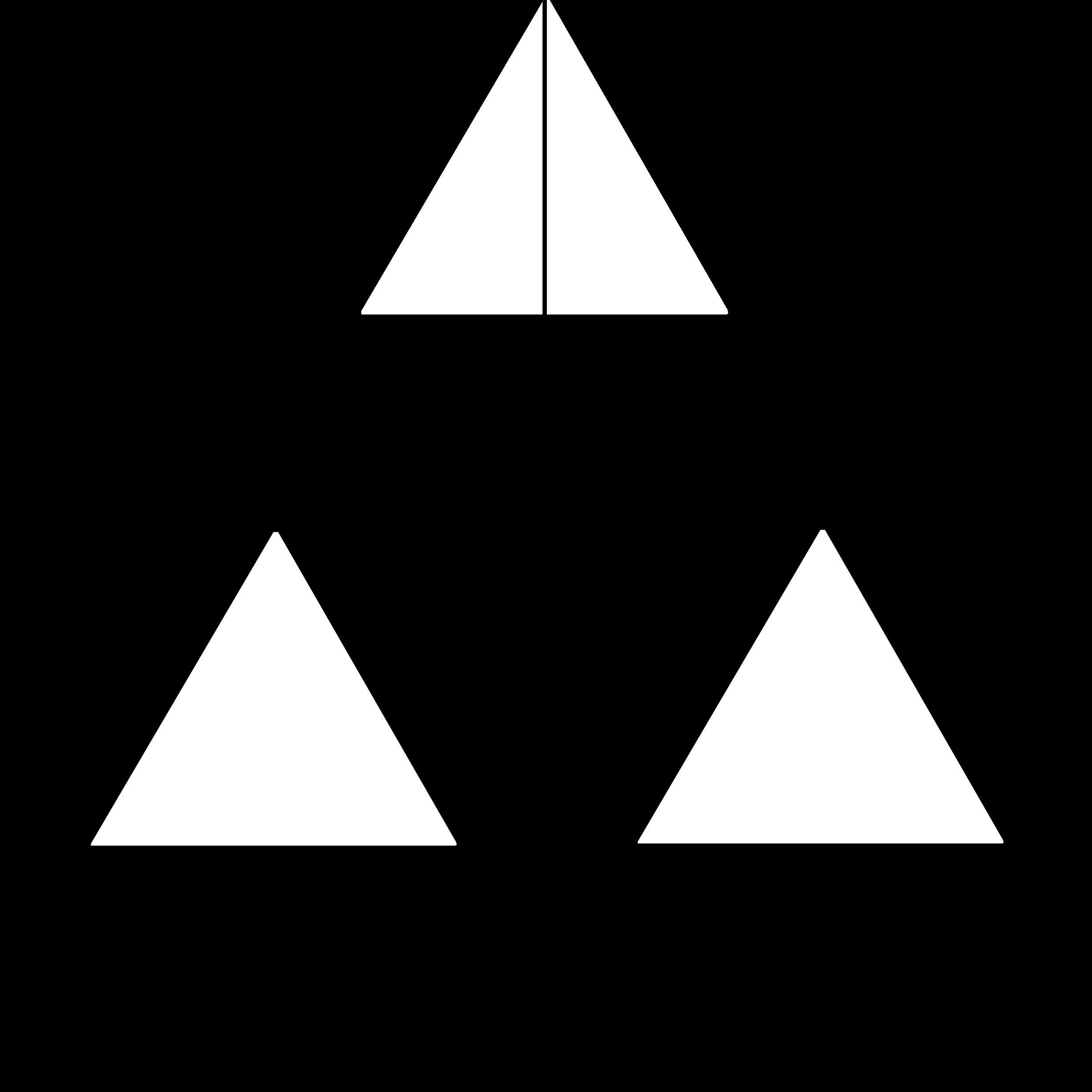 A három egyenlő oldalú háromszögből álló Hartmann maszk
