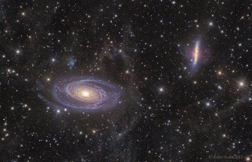 M81 - M82 and Integrated Flux nebula