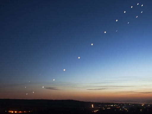 Analemma of the moon