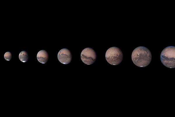 A Mars láthatósága 2020