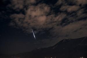 Meteor Lugano Fölött