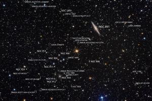 NGC 891 és Abell 347