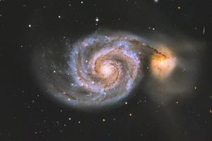 M51 galaxis (Kivágással)