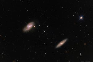 Leo nagy messier galaxisai M65-66