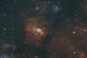 NGC 7635 Buborék Köd és M52 nyílthalmaz
