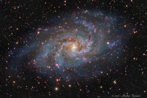 M33 - Triangulum-galaxis - OSC-HDR