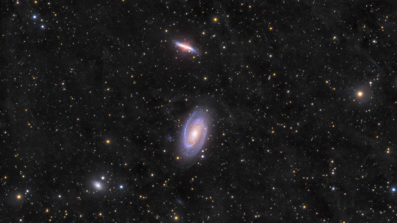 A Messier 81/82 galaxispáros és környezete