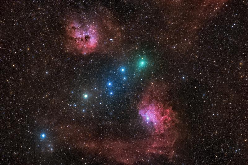 A C/2020 M3 (ATLAS) és az Auriga ködösségei