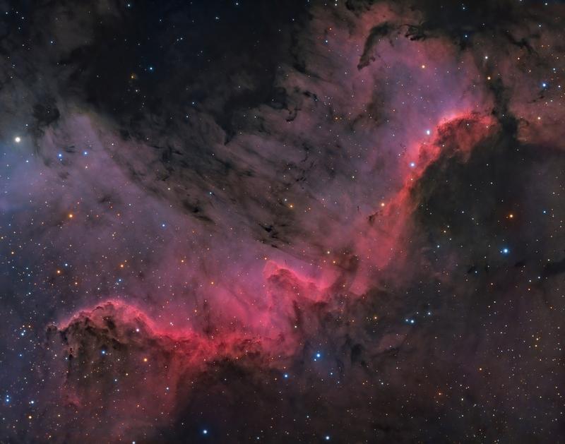 Hattyú fal (NGC 7000 - Cygnus Wall)