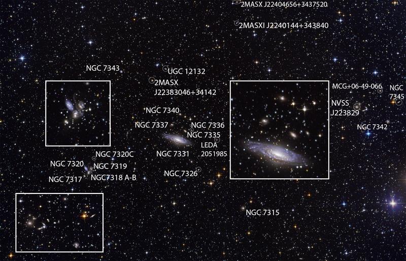 NGC 7331 és Stephans Quintet