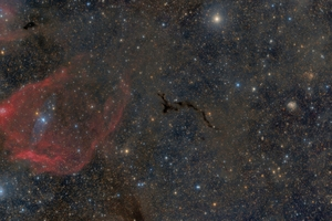 Cepheus részlet - Az Sh2-129-től a Tűzijáték-galaxisig