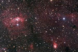 NGC 7635,Buborék-köd a Cassiopeia csillagképben