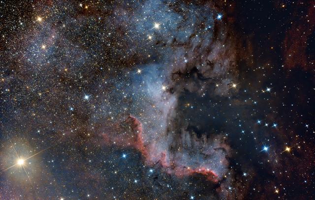 Észak-Amerika köd részlet (NGC 7000)